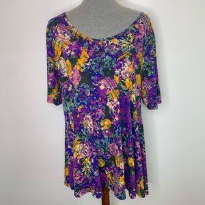 ⭐️3/$25⭐️ Lularoe Purple Plus Size perfect t